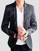 ieftine Blazer & Costume de Bărbați-bărbați blazer de lucru - guler tricou dungi