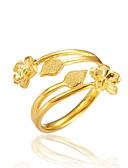 olcso Kvarc-Női Nyissa meg a gyűrűt - Arannyal bevont Virág Luxus Állítható Arany Kompatibilitás Ajándék / Randi