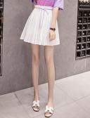 tanie Damska spódnica-Damskie Linia A Spódnice - Wyjściowe Solidne kolory
