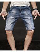 tanie Męskie spodnie i szorty-Męskie Rozmiar plus Bawełna Jeansy Spodnie Jendolity kolor