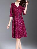 povoljno Ženske haljine-Žene Osnovni Korice Haljina Jednobojni Iznad koljena