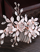 cheap Women's Headpieces-Rhinestone / Alloy Hair Combs / Hair Stick / Hair Accessory with Rhinestone / Floral 1 Piece Wedding / Party / Evening Headpiece