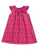 hesapli Elbiseler-Çocuklar Genç Kız Temel Günlük Geometrik Kolsuz Elbise Fuşya