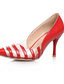 povoljno Tajice-Žene Cipele na petu Stiletto potpetica Zatvorena Toe PU Udobne cipele Proljeće Crn / Bijela / Crvena / Dnevno