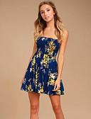 tanie Sukienki-Damskie Wyjściowe Bawełna Linia A Sukienka Pasek Nad kolano