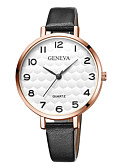 cheap Quartz Watches-Geneva Women's Wrist Watch Quartz New Design Casual Watch Cool Leather Band Analog Casual Fashion Black / Brown - Black / White White / Brown Black / Rose Gold One Year Battery Life