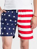 tanie Koszulki i tank topy męskie-Męskie Moda miejska Szczupła Krótkie spodnie Spodnie Wielokolorowa