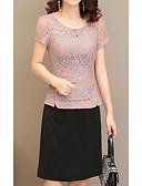baratos Camisetas Femininas-Mulheres Para Noite Algodão Delgado Evasê Vestido Acima do Joelho