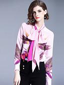 abordables Tops de Mujeres-Mujer Negocios / Activo Estampado Camisa Floral