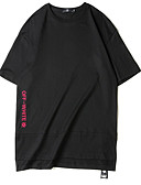 ieftine Maieu & Tricouri Bărbați-Bărbați Tricou De Bază - Scrisă Imprimeu