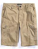 tanie Męskie koszule-Męskie Podstawowy Szorty Spodnie Solidne kolory