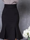 ieftine Fuste de Damă-Pentru femei Bodycon Activ Fuste - Mată Alb negru