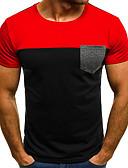 זול חולצות לגברים-קולור בלוק צווארון עגול טישרט - בגדי ריקוד גברים / שרוולים קצרים