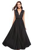 זול שמלות מקסי-קולר מקסי שמלה נדן רזה Party חוף בגדי ריקוד נשים / סקסית