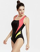 זול מכנסיים לנשים-בגדי ריקוד נשים בגד ים עמיד בכלור, ייבוש מהיר Chinlon ללא שרוולים בגדי ים ביגוד חוף צמרות טלאים שחייה
