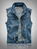 זול גברים-ג'קטים ומעילים-אחיד וינטאג' וסט - בגדי ריקוד גברים, דפוס