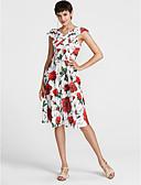 tanie Sukienki-Damskie Spódnica Sukienka - Kwiaty Do kolan