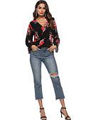 ieftine Pantaloni de Damă-Pentru femei Bluză Bumbac Mată / Geometric