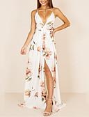 זול שמלות נשים-מקסי אחיד - שמלה נדן בגדי ריקוד נשים