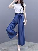 abordables Pantalones para Mujer-Mujer Polo - Un Color Pantalón