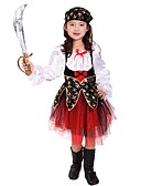 cheap Women's Dresses-Pirate Costume Girls' Halloween / Carnival / Children's Day Festival / Holiday Halloween Costumes Black Solid Colored / Halloween Halloween