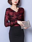 ieftine Bluze de Damă-Pentru femei În V Tricou Muncă Geometric