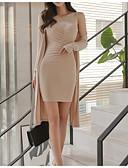 baratos Vestidos de Casamento-Mulheres Conjunto Sólido Vestidos
