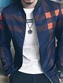 cheap Men's Hoodies & Sweatshirts-Men's Jacket - Color Block Stand / Long Sleeve