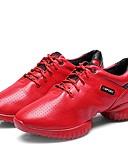 זול סוודרים לנשים-בגדי ריקוד נשים סניקרס לריקוד עור נעלי ספורט עקב קובני נעלי ריקוד שחור / אדום