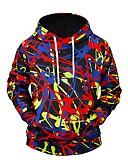 povoljno Muške majice s kapuljačom i trenirke-Muškarci Aktivan / pretjeran Hoodie - Print, Geometrijski oblici / 3D
