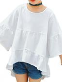 billige Piketopper-Barn Jente Grunnleggende Daglig Blomstret 3/4 ermer Normal Polyester Bluse Hvit