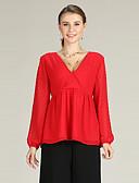 זול שמלות נשים-קפלים / שרוכים לכל האורך, אחיד - סוודר שרוול התלקחות פעיל / בסיסי בגדי ריקוד נשים