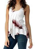 povoljno Majica s rukavima-Majica s rukavima Žene - Osnovni Dnevno Jednobojni / Cvjetni print Duboki U Slim