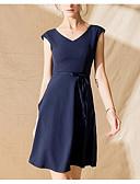 ieftine Print Dresses-Pentru femei Bumbac Shift Rochie Lungime Genunchi