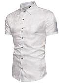 ieftine Tricou Bărbați-Bărbați Mărime Plus Size Cămașă Muncă Bumbac Geometric / Manșon scurt