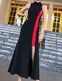 povoljno Ženske haljine-Žene Izlasci Slim Korice Haljina Uski okrugli izrez Maxi Visoki struk