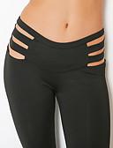 abordables Pantalones para Mujer-Mujer Ahuecado Pantalones de yoga - Negro Deportes Color sólido Licra Medias / Mallas Largas / Leggings Running, Fitness, Danza Ropa de Deporte Transpirable, Suave, Cómodo Elástico