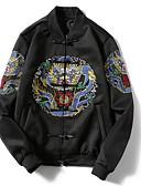 ieftine Tricou Bărbați-Bărbați Stand Jachetă Imprimeu reactiv / Contemporan / Manșon Lung