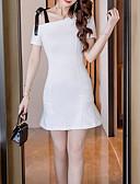 cheap Sweater Dresses-women's basic sheath dress high waist mini one shoulder