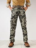 baratos Calças e Shorts Masculinos-Homens Militar Chinos / Calças Esportivas Calças - camuflagem