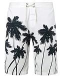 baratos Roupas de Banho Masculinas-Homens Calcinhas, Shorts & Calças de Praia - Estampa Colorida Bermuda de Natação / Sexy