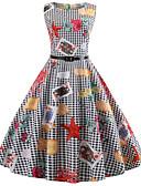 povoljno Vintage kraljica-Žene Vintage Pamuk Slim Hlače - Geometrijski oblici Crn / Izlasci