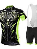 ieftine Ceasuri Digitale-Malciklo Bărbați Manșon scurt Jerseu Cycling cu Colanți - Alb / Negru Bicicletă Set de Îmbrăcăminte, 3D Pad, Uscare rapidă, Respirabil Coolmax®, Lycra Leu / Înaltă Elasticitate