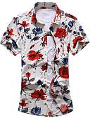 ieftine Tricou Bărbați-cămașă pentru bărbați - guler de cămașă floral