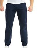 baratos Camisetas & Regatas Masculinas-Homens Básico Chinos Calças - Sólido Azul Marinha