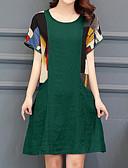 cheap Plus Size Dresses-Women's Daily Going out Loose T Shirt Dress Green Black Red XXXL XXXXL XXXXXL