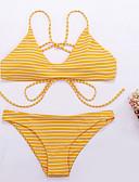 رخيصةأون ملابس السباحة والبيكيني 2017 للنساء-مايوه ستايل ثونج بدون ظهر, مخطط - بيكيني للمرأة