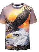 ieftine Maieu & Tricouri Bărbați-Bărbați Tricou De Bază - Animal Imprimeu