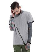 tanie Koszulki i tank topy męskie-T-shirt Męskie Moda miejska Bawełna Sport Okrągły dekolt Solidne kolory / Krótki rękaw