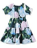 זול שמלות לבנות-Samgami Baby דפוס חיצוני מחנאות ל קיץ תלתן / פרחוני / מעל הברך / חגים / מתוק / בוהו
